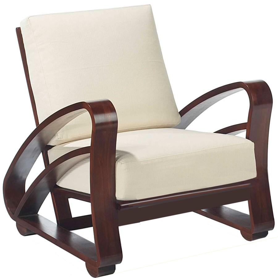Cuban Lounge Chair in Mahagony