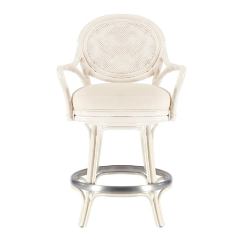 Dahlia Counter stool in White