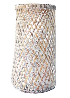 Dahlia Large Lantern in White Wash