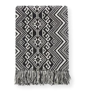 Damaska Black Throw Blanket - LIQ