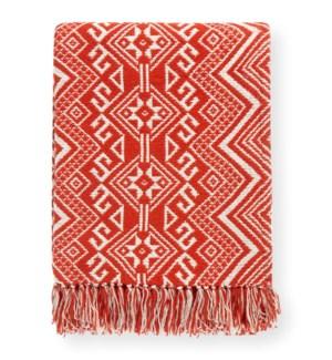 Damaska Red Throw Blanket - LIQ