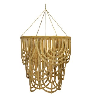 Scallop Chandelier in Natural