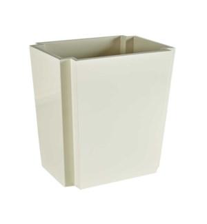 Deco Wastebasket in White