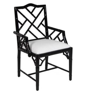 Britton Arm Chair in Black Lacquer