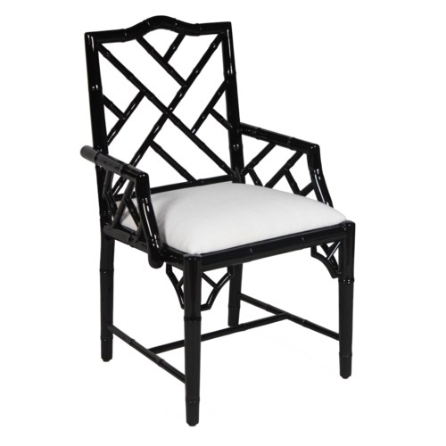 Britton Arm Chair in Black Lacquer