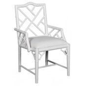 Britton Arm Chair in White Lacquer