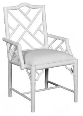 Britton Arm Chair in White Lacquer