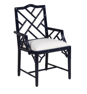 Britton Arm Chair in Navy Lacquer