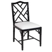 Britton Side Chair in Black Lacquer