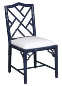 Britton Side Chair in Navy Lacquer
