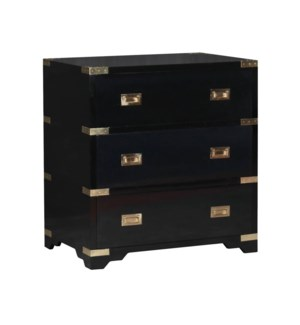 Chiba 3-Drawer Chest in Black
