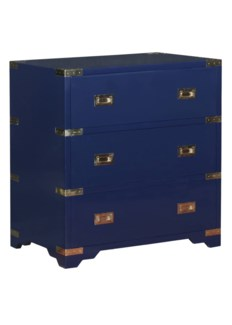 Chiba 3-Drawer Chest in Navy