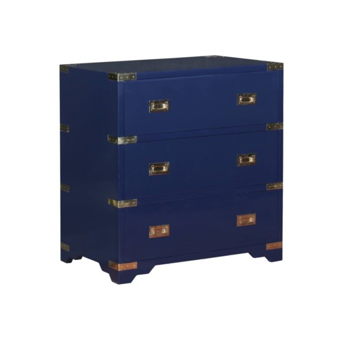 Chiba Three-Drawer Chest in Navy