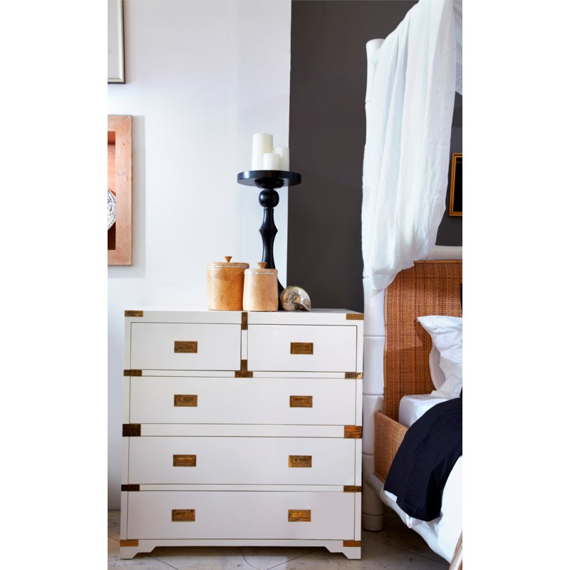 Chiba 5-Drawer Chest in White
