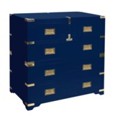 Chiba 5-Drawer Chest in Navy