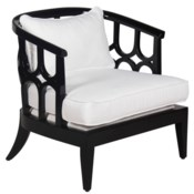 Kensington Lounge Chair in Black Lacquer