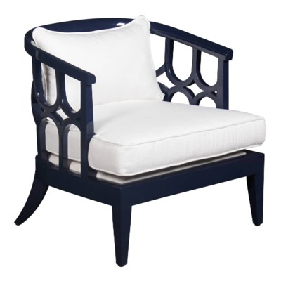 Kensington Lounge Chair in Navy Lacquer