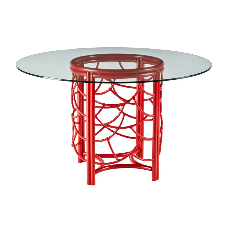 DOT Dining Table Base in Antique Red