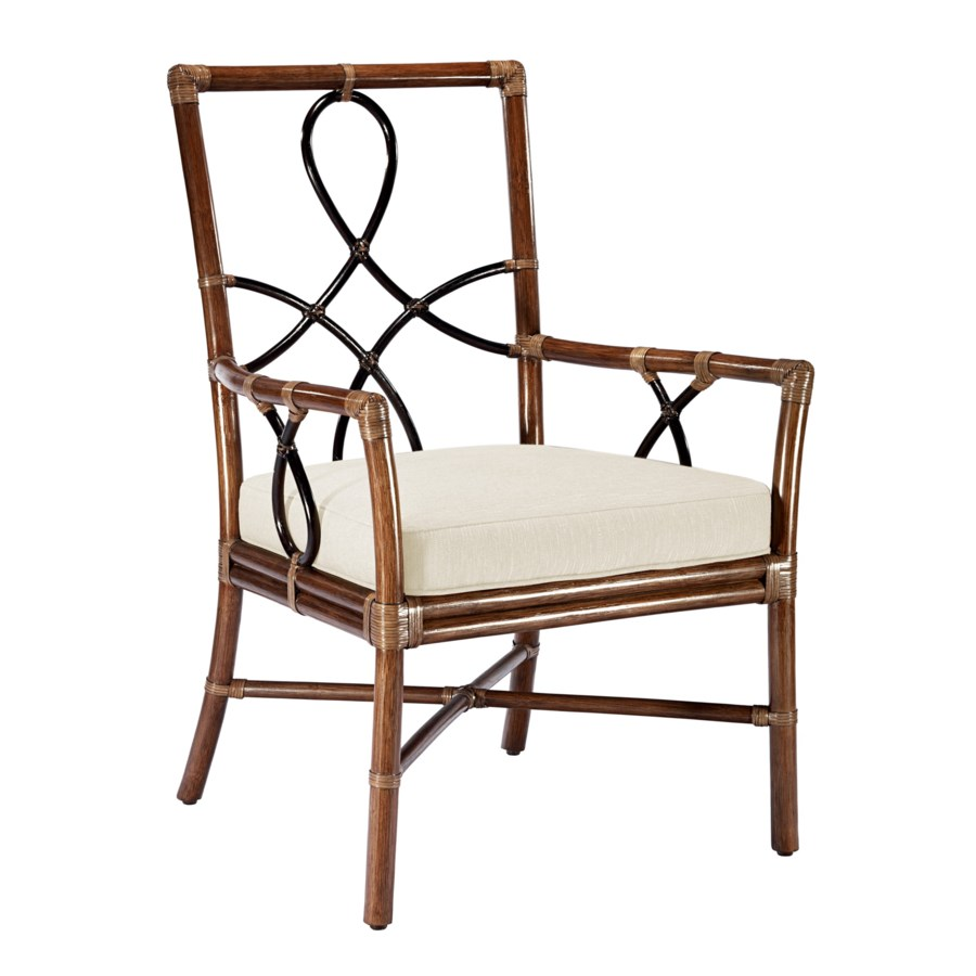 Elise Arm Chair in Cinnamon Espresso