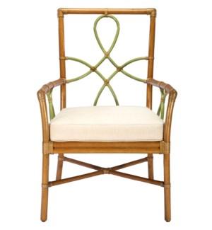 Elise Arm Chair in Nutmeg with Kiwi
