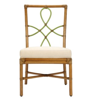 Elise Side Chair in Nutmeg with Kiwi