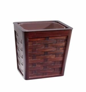 Wastebasket - Woven Mahogany w/Insert