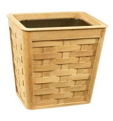 Wastebasket - Woven Teak w/Insert