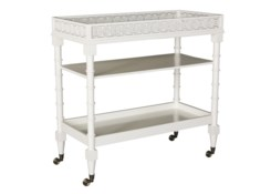 Circle Squares Serving Cart - White..