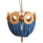 Mayfair Bead Chandelier in Blue