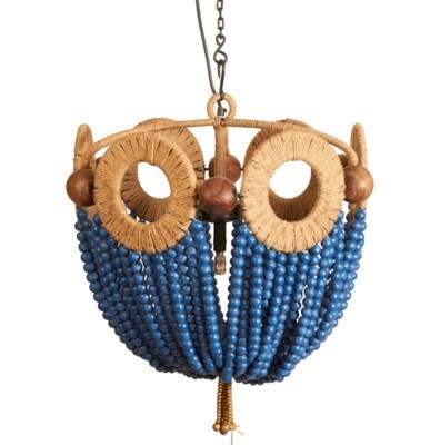 Blue Bead Chandelier