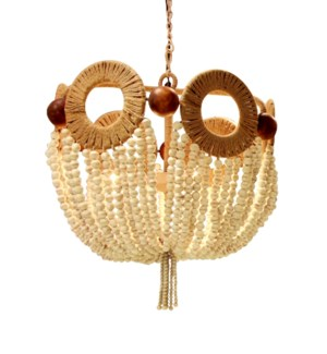 Mayfair Bead Chandelier in Ivory
