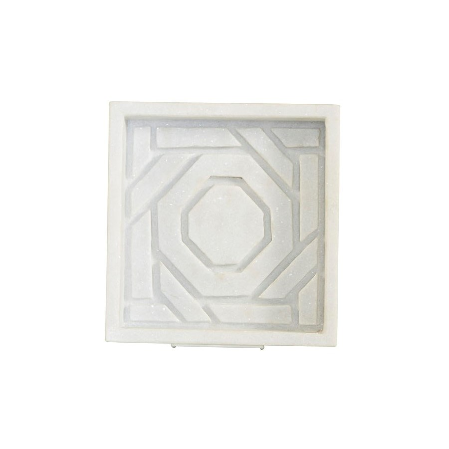 Mayfair Octagonal Lattice Marble dish