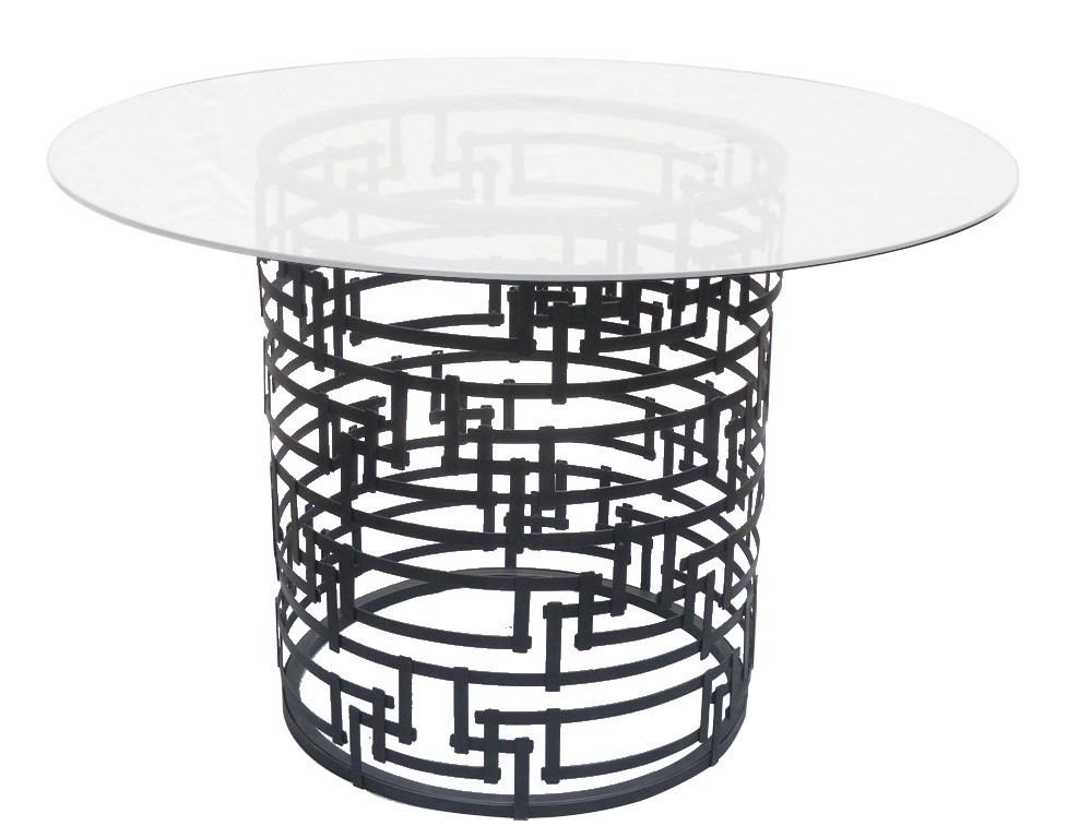 Mayfair Yvans Geometric Base in Black