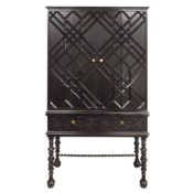 Mayfair Lattice Hutch in Black