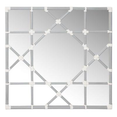 Mayfair Octagonal Lattice Mirror in Grey