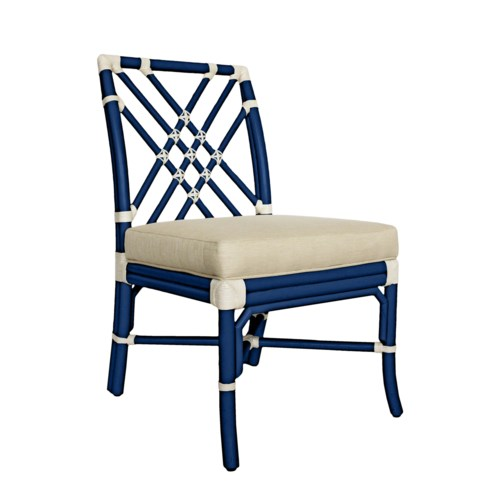 Pagoda Side Chair in Blueberry