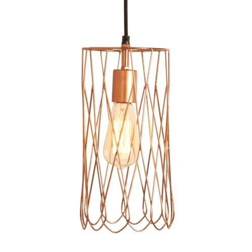 Mayfair Long Petal Pendant in Copper