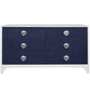 Shanghai 6-Drawer Dresser in Navy