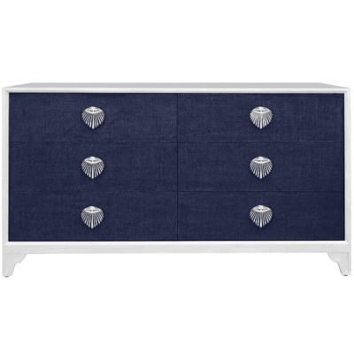 Shanghai 6-Drawer Dresser in Navy