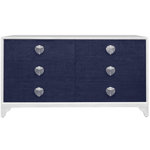 Shanghai Six-Drawer Dresser in Navy