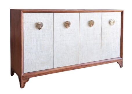 Shanghai Credenza in Natural/White