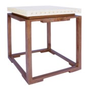 Shangai Side Table in Natural/White