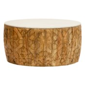 Sydney Mod Pomegranates Coffee Table in Natural