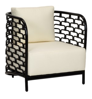 Sydney Mod Steps Lounge Chair in Black
