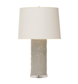 Sydney Mod Swirls Lamp in Grey