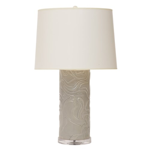 Swirls Lamp in Grey