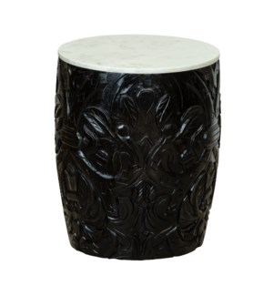 Pomegranates Side Table in Black