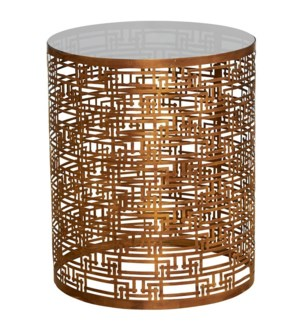 Yvans Geo Side Table in Gold