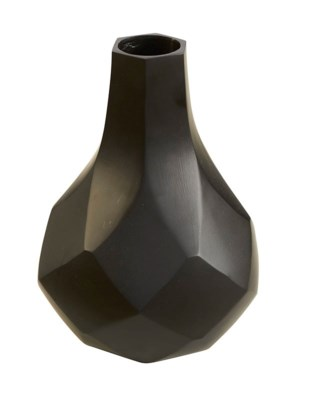 Diamonds Tall Vase - Black