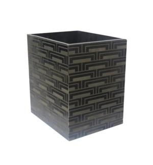 Steps Wastebasket in Black